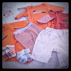 Baby's First Halloween Set of 8 clothing prices.